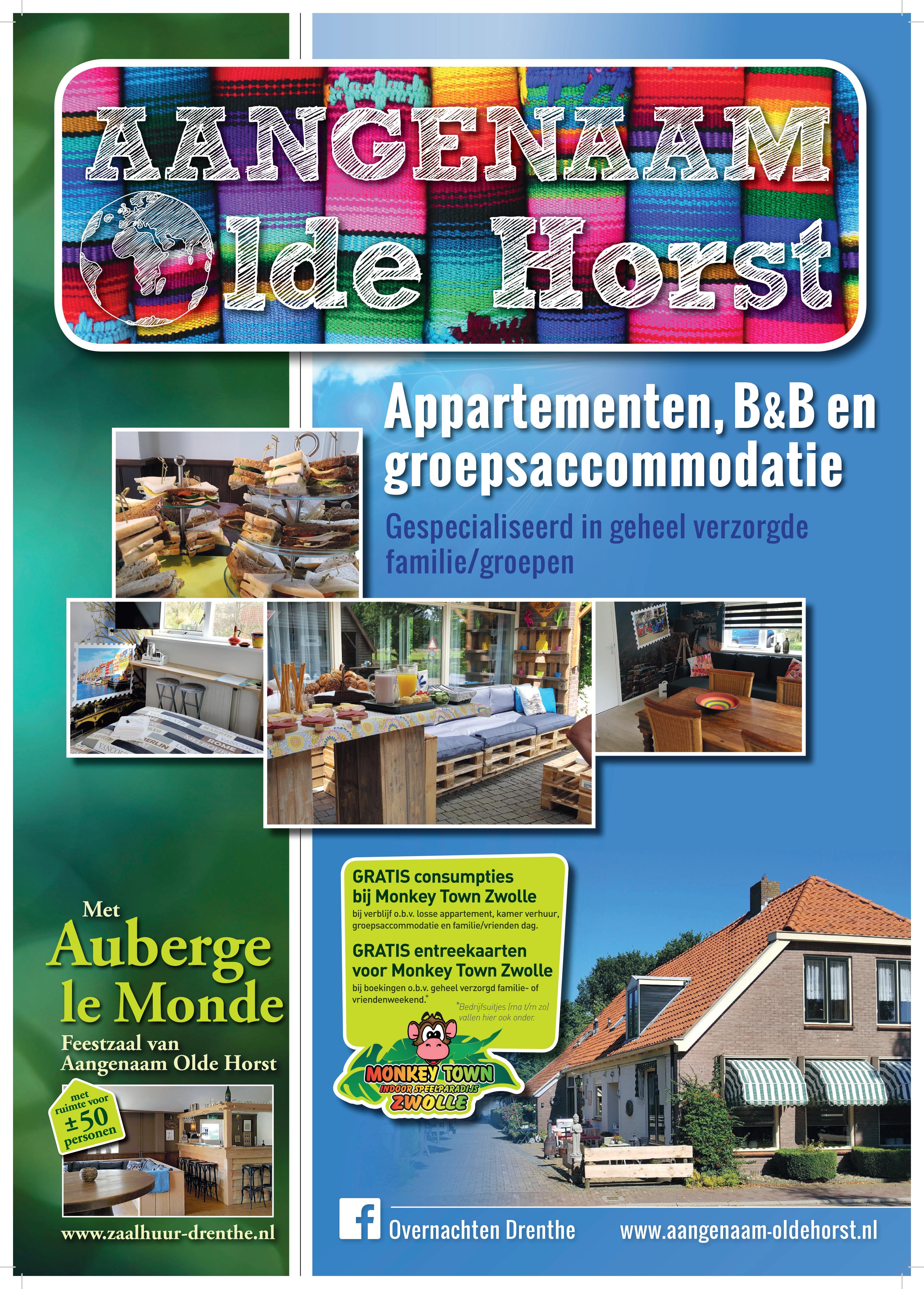Aangenaam - Olde Horst en Monkey Town Zwolle combi